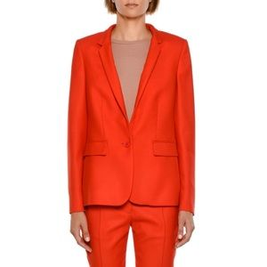 Stella McCartney Fleur Stand Collar Blazer Jacket